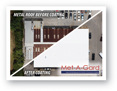 AWS Metal Roof Restoration Before and After Image